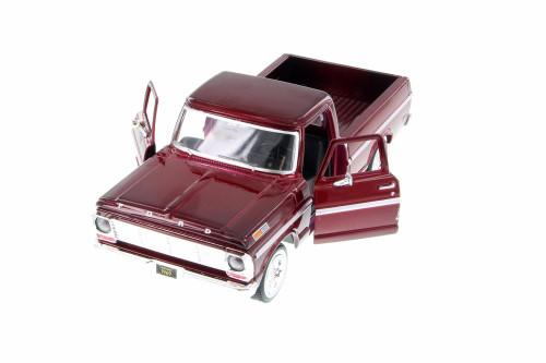 1969 Ford F-100 Pickup Truck, Burgundy - Showcasts 79315AC/BG - 1/24 scale Diecast Model Toy Car