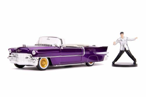 1956 Cadillac Eldorado Convertible with Elvis Figure, Elvis Presley - Jada 30985 - 1/24 scale Diecast Model Toy Car