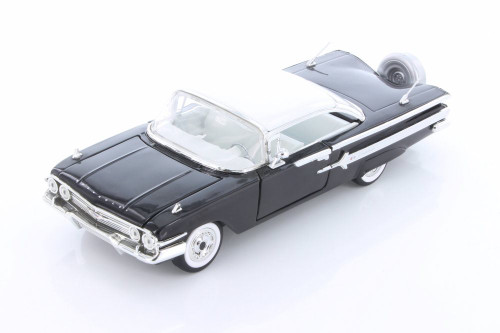 1960 Chevy Impala Hard Top, Black - Jada 98903-MJ - 1/24 scale Diecast Model Toy Car