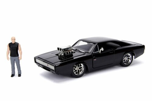 Dodge Charger R/T with Dom Figure, Fast & Furious - Jada 30737 - 1/24 Scale Diecast Model Toy Car