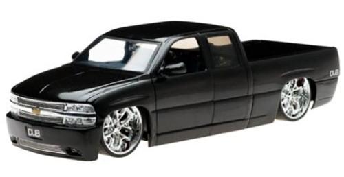 Chevy Silverado Pickup Truck, Black - Jada Toys Dub City 63112 - 1/18 scale Diecast Model Toy Car