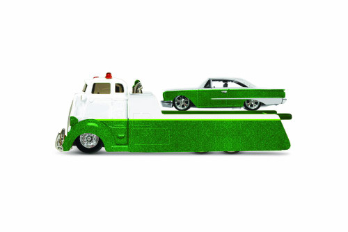 1960 Ford Starliner on COE Flatbed, Green - Maisto 15055STA - 1/64 scale Diecast Model Toy Car