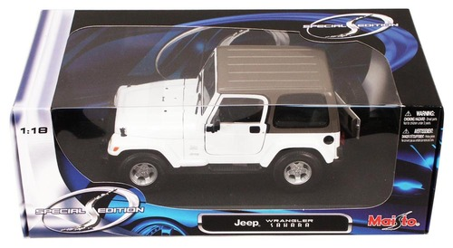 Jeep Wrangler Sahara, White - Maisto 31662 - 1/18 Scale Diecast Model Toy Car