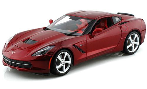 2014 Chevy Corvette Stingray, Red - Maisto 31182 - 1/18 Scale Diecast Model Toy Car