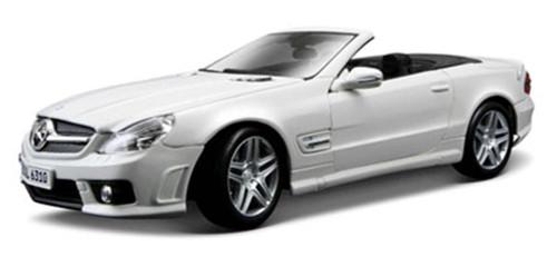 Mercedes-Benz SL63 AMG Convertible, White - Maisto 31168 - 1/18 Scale Diecast Model Toy Car