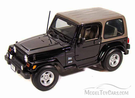 Jeep Wrangler Sahara, Black - Maisto 31662 - 1/18 Scale Diecast Model Toy Car