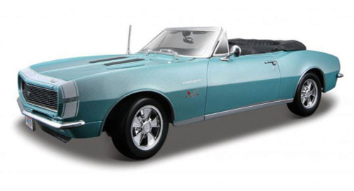 1967 Chevy Camaro SS 396 Convertible, Turquoise - Maisto 31684 - 1/18 Scale Diecast Model Toy Car