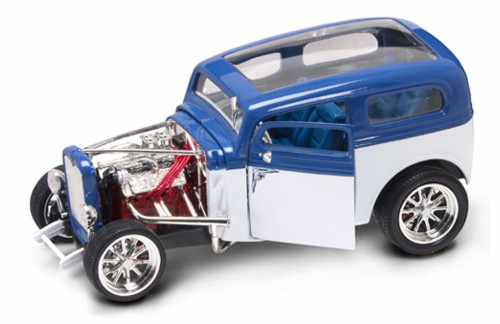 1931 Ford Model A Custom, Blue & White - Yatming 92849 - 1/18 Scale Diecast Model Toy Car