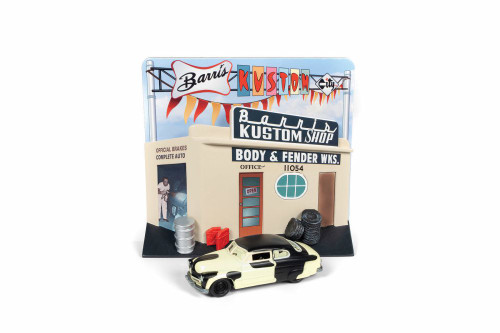 1949 Ford Mercury with Barris Custom Shop, Cream - Round 2 JLDR008/24 - 1/64 scale Diecast Model Toy Car