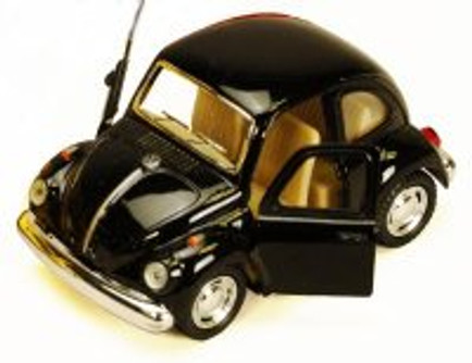 1967 Volkswagen Classic Beetle, Black - Kinsmart 4026D - 3.75Diecast Model Toy Car (Brand New, but NOT IN BOX)