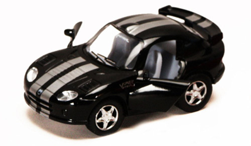 Dodge Viper GTS-R, Black - Kinsmart 4020D - 4Diecast Model Toy Car (Brand New, but NOT IN BOX)