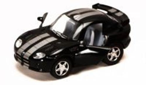 Dodge Viper GTS-R, Black - Kinsmart 4020D - 4Diecast Model Toy Car (Brand New, but NOT IN BOX)