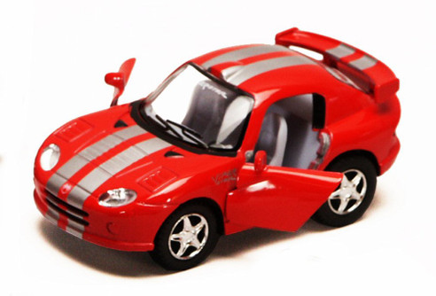 Dodge Viper GTS-R, Red - Kinsmart 4020D - 4Diecast Model Toy Car (Brand New, but NOT IN BOX)