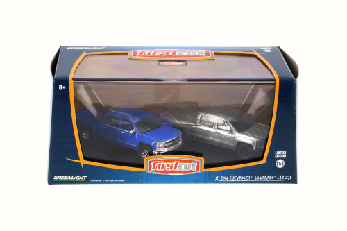2014 Chevrolet Silverado LTZ Z71 Set, Greenlight 29827 - 1/64 Scale Diecast Model Toy Car