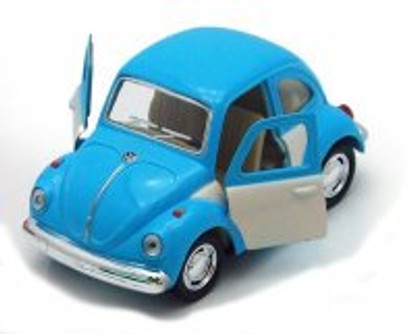 1967 Volkswagen Classic Beetle, Blue - Kinsmart 4026DC - 3.75Diecast Model Toy Car (Brand New, but NOT IN BOX)