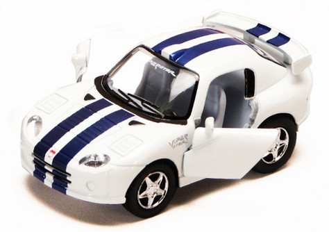 Dodge Viper GTS-R, White - Kinsmart 4020D - 4Diecast Model Toy Car (Brand New, but NOT IN BOX)
