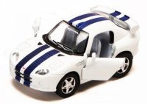 Dodge Viper GTS-R, White - Kinsmart 4020D - 4Diecast Model Toy Car (Brand New, but NOT IN BOX)