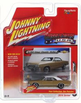 1967 Chevy Chevelle SS, Granada Gold - Johnny Lightning JLMC001A - 1/64 Scale Diecast Model Toy Car