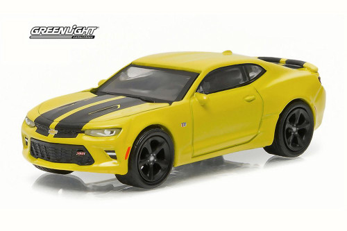 2016 Chevy Camaro SS, Bright Yellow - Greenlight 13160E/48 - 1/64 Scale Diecast Model Toy Car