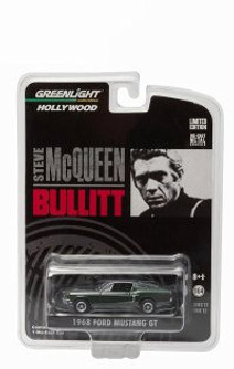 1968 Ford Mustang GT Fastback, Steve McQueen Bullit - Greenlight 44711F - 1/64 Scale Diecast Model Toy Car