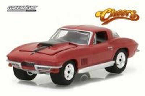 1967 Chevy Corvette Stingray, Cheers, Ruby Red - Greenlight 44770 - 1/64 Scale Diecast Model Toy Car