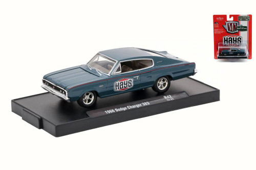 1966 Dodge Charger 383, Hays, Blue - Castline M2 11228/42 - 1/64 Scale Diecast Model Toy Car