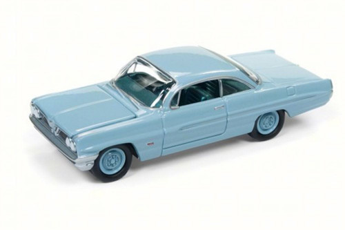 1961 Pontiac Catalina, Tradewind Blue - Round 2 JLSP008/24B - 1/64 Scale Diecast Model Toy Car