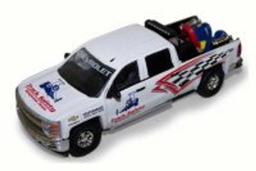2015 Chevy Silverado Pickup Truck w/ Safety Equipment, White - Greenlight 29874 - 1/64 Scale Diecast Model Toy Car