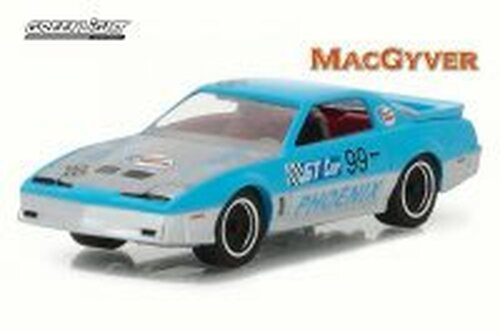 1987 Pontiac Firebird, MacGyver, Light Blue - Greenlight 44770 - 1/64 Scale Diecast Model Toy Car