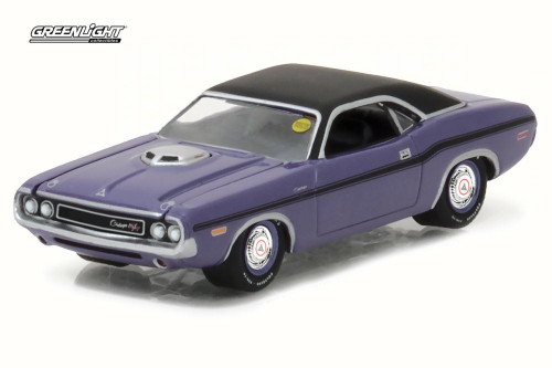 1970 Dodge HEMI Challenger R/T, Purple - Greenlight 37110/48 - 1/64 Scale Diecast Model Toy Car