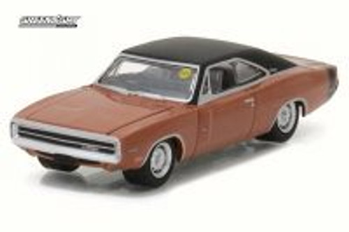 1970 Dodge HEMI Charger R/T, Bronze - Greenlight 37110/48 - 1/64 Scale Diecast Model Toy Car