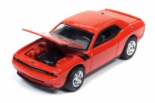 2010 Dodge Challenger R/T, HEMI Orange - Round 2 JLCG012/48A - 1/64 Scale Diecast Model Toy Car