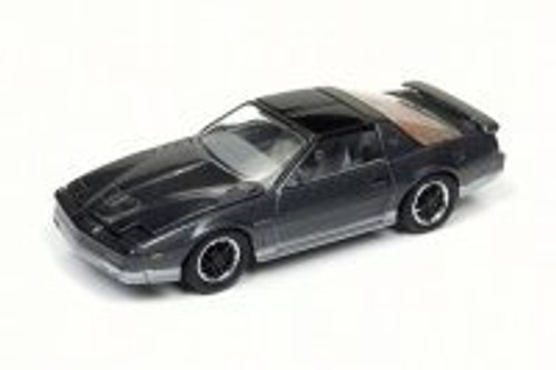 1985 Pontiac Firebird T/A, Medium Gray Poly/Silver - Round 2 JLCG011/24B - 1/64 Scale Diecast Model Toy Car