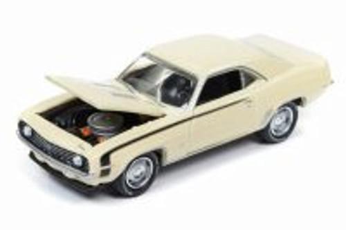1969 Chevy Camaro 50th Anniversay, Butternut Yellow - Round 2 JLCG012/48A - 1/64 Scale Diecast Model Toy Car