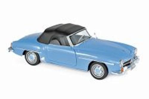 1957 Mercedes-Benz 190 SL Convertible, Blue - Norev 183400 - 1/18 scale Diecast Model Toy Car