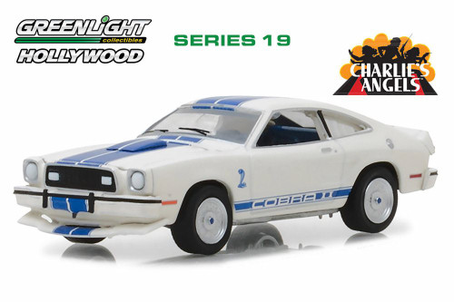 1976 Ford Mustang Cobra II, Charlie's Angels - Greenlight 44790A - 1/64 Scale Diecast Model Toy Car