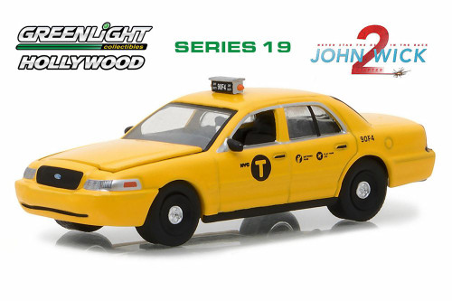 2008 Ford Crown Victoria Taxi, John Wick Chapter 2 - Greenlight 44790F - 1/64 Scale Diecast Model Toy Car