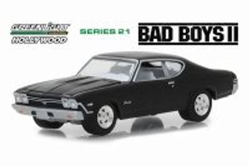 1968 Chevy Chevelle SS, Bad Boys II - Greenlight 44810E/48 - 1/64 scale Diecast Model Toy Car