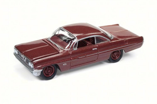 1961 Pontiac Catalina, Ruby Red - Round 2 JLSP008/24A - 1/64 Scale Diecast Model Toy Car