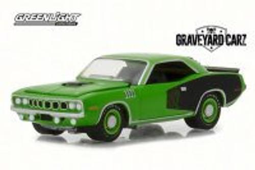 1971 Plymouth Cuda Hemi, Graveyard Carz - Greenlight 44800/48 - 1/64 Scale Diecast Model Toy Car