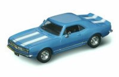 1967 Chevy Camaro Z28, Blue w/ Stripes - Yatming 94216 - 1/43 Scale Diecast Model Toy Car