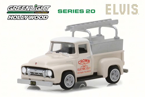 1954 Ford F-100 Pick-Up Crown Electric, Elvis Presley - Greenlight 44800/48 - 1/64 Scale Diecast Model Toy Car