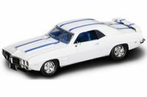 1969 Pontiac Firebird Trans Am, White w/ Stripes - Yatming 94238 - 1/43 Scale Diecast Model Toy Car