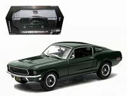 1968 Ford Mustang Fastback 2+2 Steve McQueen, Bullit - Greenlight 86431 - 1/43 Scale Diecast Model Toy Car