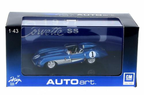 1957 Chevy Corvette SS, Blue - AutoArt 51051 - 1/43 Scale Collectible Diecast Vehicle Replica