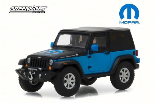 2010 Jeep Wrangler Concept  The General Mopar, Blue w/ Black - Greenlight 86092 - 1/43 Scale Diecast Model Toy Car