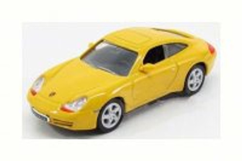 1998 Porsche 911 Carrera, Yellow - Road Signature 94221 - 1/43 Scale Diecast Model Toy Car