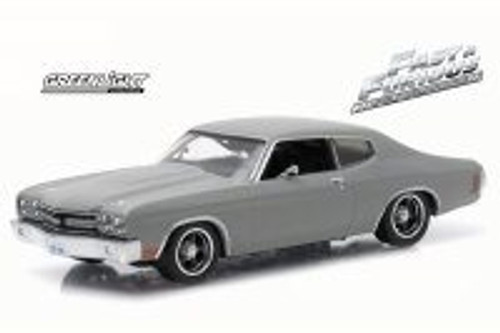 Dom's 1970 Chevy Chevelle SS, Gray - Greenlight 86227 - 1/43 Scale Diecast Model Toy Car