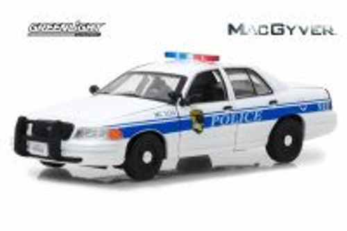 2003 Ford Crown Victoria Police Interceptor, MacGyver - Greenlight 86520 - 1/43 scale Diecast Model Toy Car