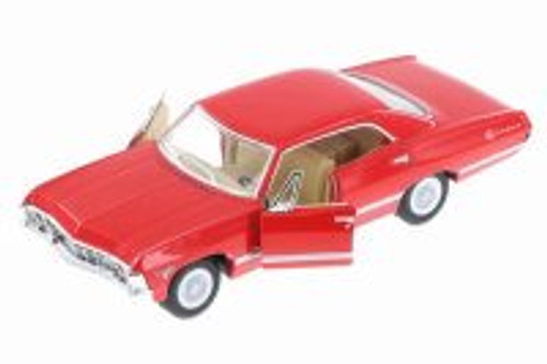 1967 Chevy Impala Hard Top, Red - Kinsmart 5418D - 1/43 Scale Diecast Model Toy Car